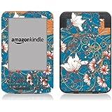 Diabloskinz Vinyl Adhesive Skin Decal Sticker for Amazon Kindle Keyboard - Blue Flower
