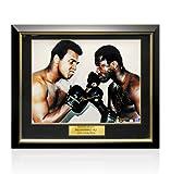 Framed Muhammad Ali & Joe Frazier Dual Signed Photo - Face to Face
