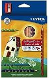 LYRA Groove Slim Child-Grip Pencils, 3 Millimeter Cores, Includes Sharpener, Set of 36 Pencils, Assorted Colors (2821360)