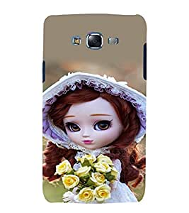 printtech Cute Beautiful Girl Doll Back Case Cover for Samsung Galaxy E5 / Samsung Galaxy E5 E500F