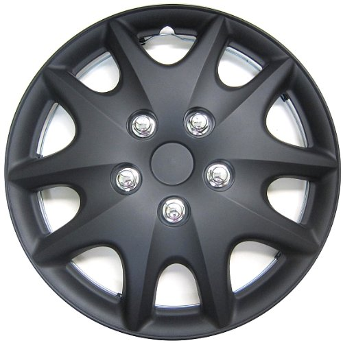 Drive Accessories KT-1009-15MBK, Toyota Solara, 15″ Matte Black Replica Wheel Cover, Pack of 4