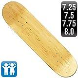 スケートボード 7.75インチ デッキ スケボー 木目 無地 ナチュラル ブランク 100% メイプル SKATEBOARD BLANK DECK NATURAL