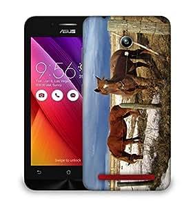 Snoogg Black Parental Horse Designer Protective Phone Back Case Cover For Asus Zenfone GO