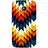 AMAN Colours Design 3D Back Cover For Motorola Moto E 2nd Gen