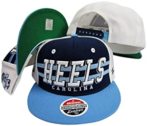 North Carolina Tar Heels Three Tone Plastic Snapback Adjustable Plastic Snap Back Hat... by Zephyr