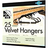 Closet Complete Ultra Thin No Slip Velvet Suit Hangers, Black, Set of 25 ~ Closet Complete