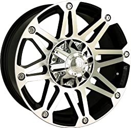 Mayhem Riot 20 Machined Black Wheel / Rim 5×5.5 & 6×5.5 with a 18mm Offset and a 108 Hub Bore. Partnumber 8010-2995B18