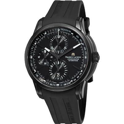 Maurice Lacroix Pontos Automatic Watch, ETA Valjoux 7750, Black, Chronograph