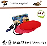 Heating-Pads-For-Pets-Petcaree-Warming-Dog-Beds-Pet-Mat-with-Chew-Resistant-Cord-Soft-Removable-Cover-Diameter-30cm