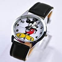 Mickey Mouse Watch Disney Kids Leather Band