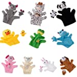 10pcs Hand/Finger Puppet Set of Diffe...