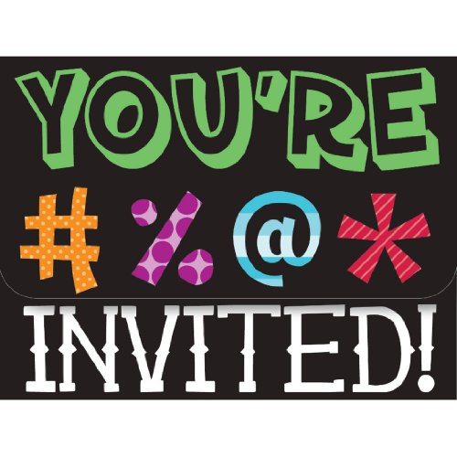Creative Converting Holy Bleep 8 Count Party Invitations