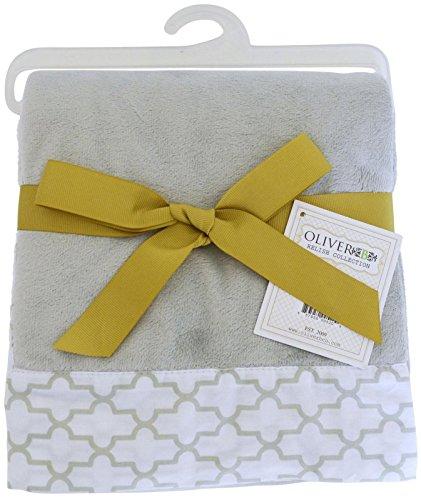 Oliver B Minky Stroller Blanket - Dove Grey