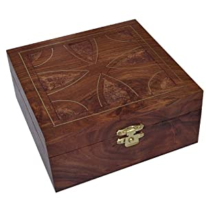 hand engraved wooden jewelry box for her