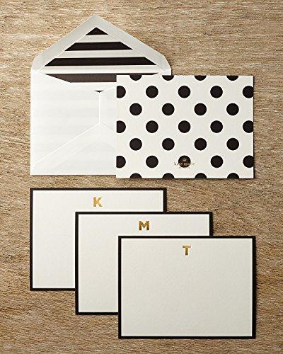 Kate Spade Monogram Correspondence Cards - Letter H