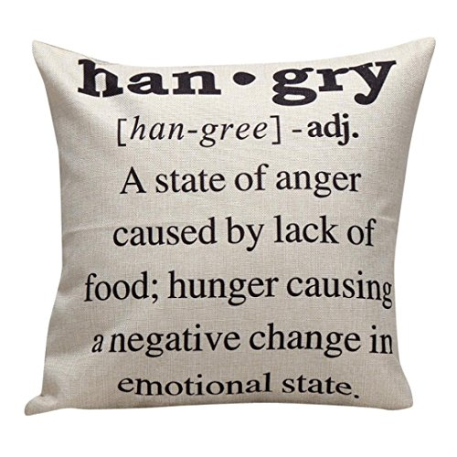 Hatop Decorative Linen blend Square Letters Throw Pillow Case Decor Cushion Covers (O) (32 X 24 Pillow Insert compare prices)
