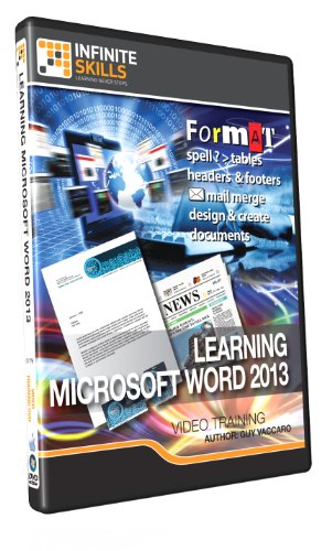 Learning Microsoft Word 2013 - Training Dvd