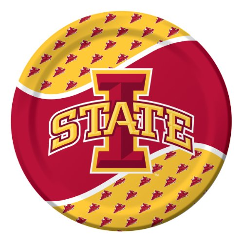 Creative Converting Iowa State Cyclones Dinner Paper Plates (8 Count) - 1
