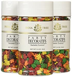 India Tree Decoratifs, Autumn Leaves, 2 oz (Pack of 3)