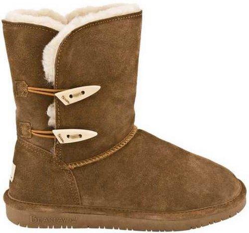BEARPAW Women's Abigail Winter Boot, Hickory, 9 M US
