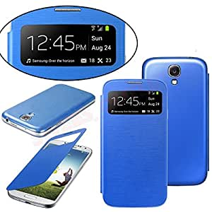 PU Leather & Plastic Protective Case for Samsung S4/i9500 Blue