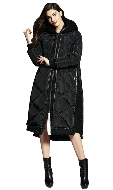 Damen Daunenmantel knielang mit Fellkapuze Parka Warm Winterjacke Steppmantel S/M/L/XL jetzt kaufen