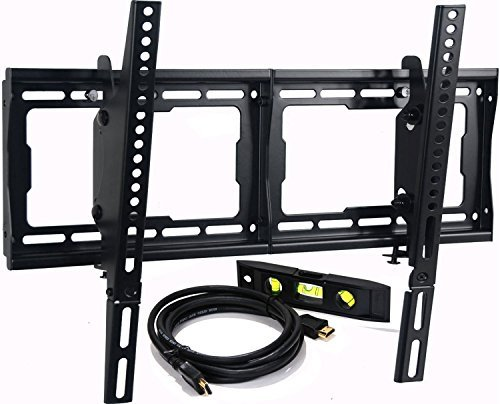 "VideoSecu Mounts Tilt TV Wall Mount Bracket for Most 23""- 70"" LCD LED Plasma TV with VESA 200x100 400x400 to 600x400mm, 15 Degree Tilt up or down - Bonus HDMI Cable and Bubble Level MF608B BBM"