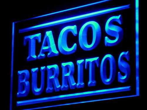 Adv Pro J085-B Tacos Burritos Supply Display Adv Led Light Sign