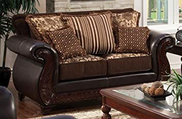 Franklin Love Seat with Pillows by Furniture of America