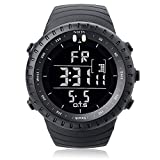 O.T.S Mens Outdoor Waterproof LED Digital Sports Watches Black