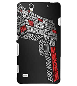 SONY XPERIA C4 GUN Back Cover by PRINTSWAG