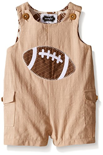Mud Pie Baby Football Romper, Brown, 0-6 Months
