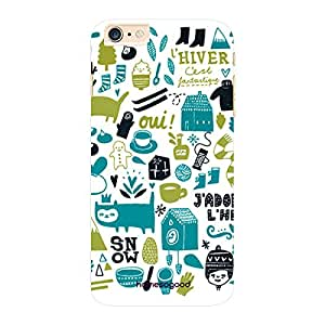 HomeSoGood Winter Fun White 3D Mobile Case For iPhone 6 Plus (Back Cover)