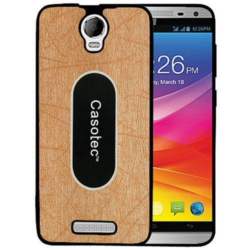 Casotec Metal Back TPU Back Case Cover for Micromax Canvas Juice 2 AQ5001 - Gold  available at amazon for Rs.149
