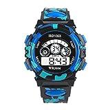 Tonsee キッズ スポーツ腕時計 子供用 アウトドア デジタル表示 多機能 電子時計