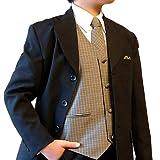 輸入子供スーツ ケント(スーツ5点セット) 6T ブラウン