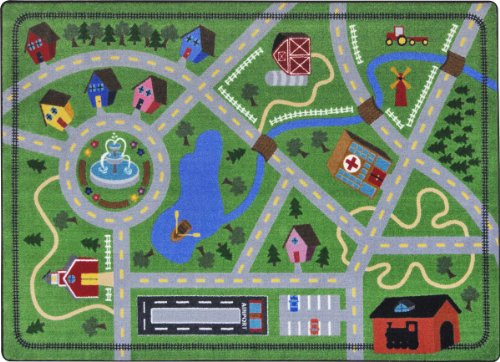 "Joy Carpets Kid Essentials Active Play & Juvenile Neighborhood Explorer Rug, Multicolored, 10'9"" x 13'2"""