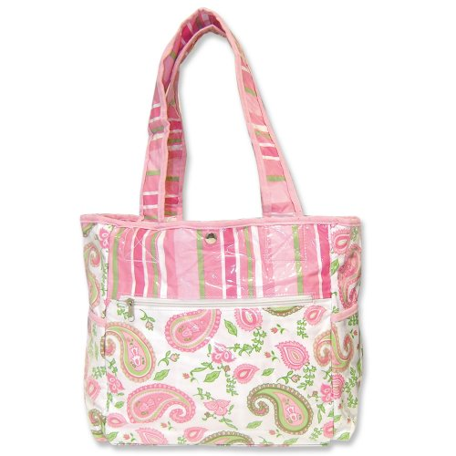 Trend Lab Paisley Park Tulip Tote Bag With Changing Pad front-260307