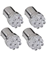 4 X 1156 BA15S P21W AMPOULE LAMPE 9 LEDs BLANC 12V POUR VOITURE