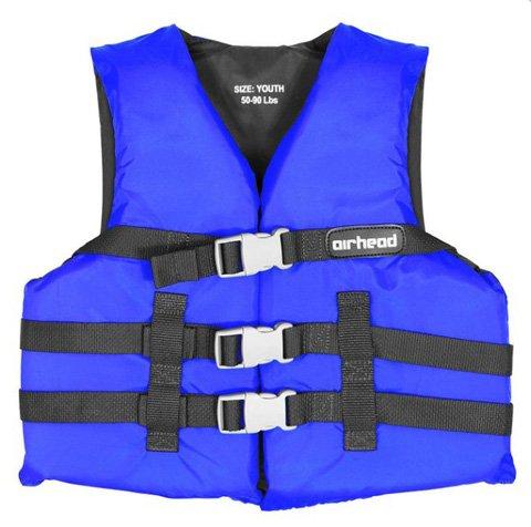 Airhead 10002-03-A-BL Blue Nylon Youth Life Vest