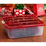 IRIS Holiday Wreath Box with Buckle-Up Lid