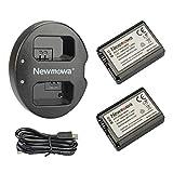 Newmowa NP-FW50 互換バッテリー 2個 + 充電器 セットSony FW50 and Sony Alpha a3000, Alpha a5000, Alpha a6000,a6300,Alpha 7, a7, Alpha 7R,...