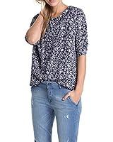 ESPRIT Damen Langarmshirt mit Bluseneinsatz