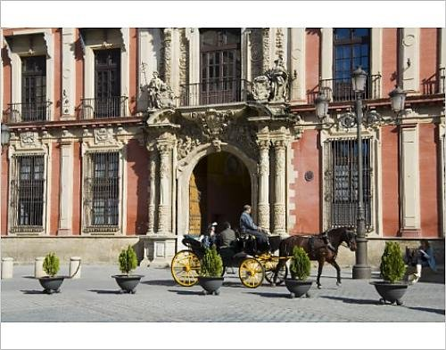 Photographic Print Of Horse And Carriage With Archbishops Palace In Background
