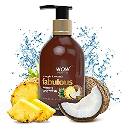 WOW Fabulous Foaming Body Wash – 300ml Pineapple & Coconut Shower Gel at Amazon at Rs.299 discount deal