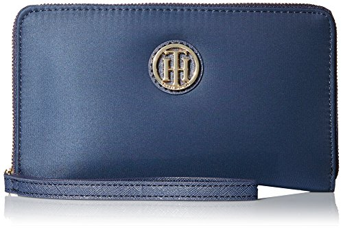 41e99d55c92 In the market for a new wallet? Amazon has an awesome deal you can score on  the highly reviewed Tommy Hilfiger Signature Nylon Wristlet, Navy for JUST  SOLD ...