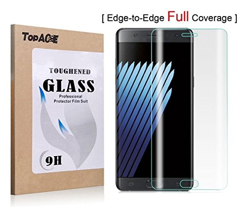 Samsung Galaxy™ Note 7 Protector de Pantalla, TopAce® [Curvado 3D] Vidrio Templado Protector de Pantalla Completa Tempered Glass Screen Protector para Samsung® Galaxy™ Note 7 (Transparente) width=