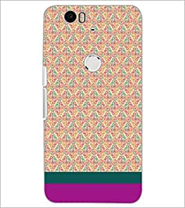 PrintDhaba Floral Pattern D-1883 Back Case Cover for HUAWEI NEXUS 6P (Multi-Coloured)