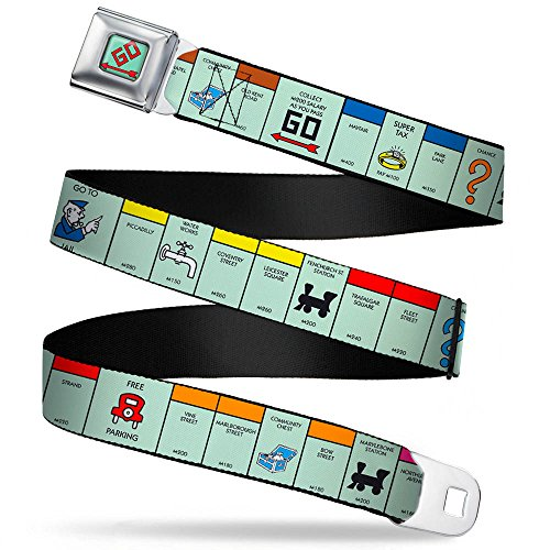 British Monopoly Board Game Spaces Webbing - Seatbelt Belt X-Large (Monopoly British compare prices)