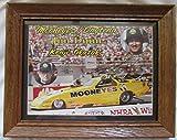 Early 1990s Signed NHRA Winston Drag Racing Funny Car.Driver Kenji Okazaki Mooneyes / Daytona Jim Dunn Racing, Track Slick / Hero Card 8.5 x 11in